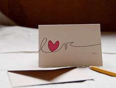 Love you note, cute DIY valentines day card