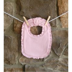 Bubble Gum Pink Ruffle Baby Bib