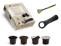 Capsul'in Capsules with Cleaning Brush - Fillable Nespresso Tea Coffee Compatible Pod (100) - http://thecoffeepod.biz/capsulin-capsules-with-cleaning-brush-fillable-nespresso-tea-coffee-compatible-pod-100/
