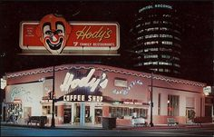 Hody's family restaurant on the corner of Hollywood and Vine. In 1955