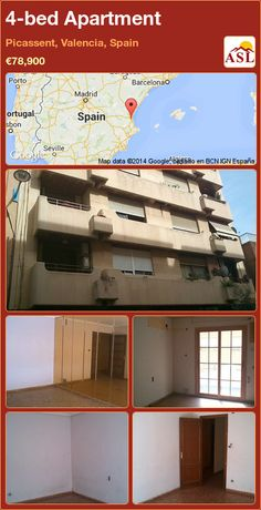 4-bed Apartment in Picassent, Valencia, Spain ►€78,900 #PropertyForSaleInSpain