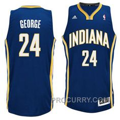 624b65d5f Mens Indiana Pacers Paul George 24 Blue Authentic NBA Basketball Jersey on  eBid United States Indiana