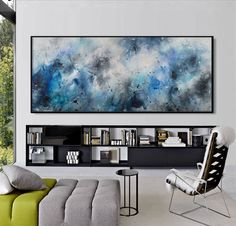 Extra Large Abstract Painting-original acrylic black white landscape square modern -a dream like that- Elena by ElenasArtStudio on Etsy https://www.etsy.com/listing/236437265/extra-large-abstract-painting-original