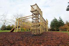 Wooden Climbing Frames - Borde Hill four tower frame