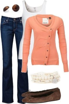 Cardigan - I like the whole thing but I love the off center buttons especially.