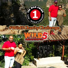 """Editor of the South Coast Fever jumps for charity!  Our second challenge has been completed! Vusi Mthalane, Editor from the South Coast Fever with his girlfriend Pinky Nsele took the #Wild5CharityChallenge by the horns by doing the #WildSwing on Sunday 1 May 2016. Situated at the top of Lehr's Waterfall in Oribi Gorge, this is the highest swing of its kind in the world. """"Had a blast today at Oribi, it was even more fun that I thought I was going to have!"""" Vusi told Wild 5 Adventures.  Watch… Horns, More Fun, Editor, Charity, Waterfall, Coast, Sunday, Challenges, Adventure"""