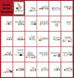How I organize my coupons, a peek at my binder, and FREE category printables.