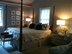 Love this bedroom from HGTV's Rate My Space.