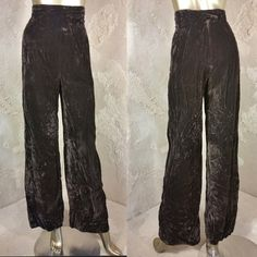 Vintage 70s 80s Boho Crushed Velvet Pants by DigSiteFinds on Etsy