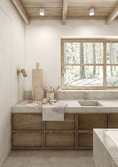 Minimal House Design, Interior Design Minimalist, Minimal Home, Interior Design Kitchen, Interior Office, Ideas Cabaña, Rustic Luxe, Forest House, Forest Garden