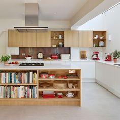 Big Kitchen, Stylish Kitchen, Open Plan Kitchen, Kitchen Shelves, Kitchen Dining, Kitchen Cabinets, Kitchen Furniture, Kitchen Interior, Office Furniture