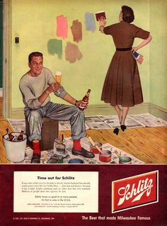 1952 Schlitz Beer print ad vintage decor by catchingcanaries