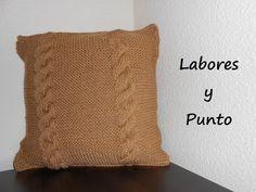 Aprende a tejer un cojin o almohada en dos agujas. Parte 2 de 2 - YouTube