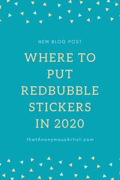 If you're wondering what to do with Redbubble stickers, this post lists the most POPULAR places where people put their stickers. News Blog, Told You So, Popular, Stickers, Places, People, Photograph, Number, Image