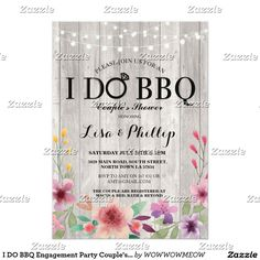 I DO BBQ Engagement Party Couple's Shower Floral