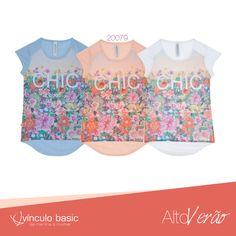 Blusa linda da Vínculo Basic disponível em 3 cores, para você que é chic! *-*  #AltoVerão