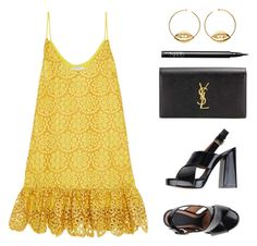 """""""Black & Yellow"""" by baludna ❤ liked on Polyvore featuring Alexis, Aurélie Bidermann, Marni, Yves Saint Laurent and NARS Cosmetics"""