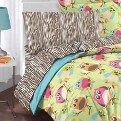 Owl Comforter Set Adorable For Girls Room