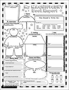 Biography Book Report Newspaper: templates, worksheets