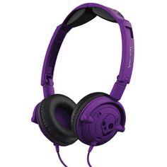 SKULLCANDY Lowrider Headphones: Athletic Purple.