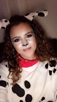 Dalmatian costume makeup for Halloween! #Women #Fashion