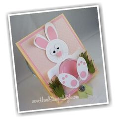 Easter Bunny Sweet Treat Embellishment Cups Stampin' Up! make simple treat cards using punches.