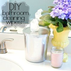 31 Days of Spring Cleaning DIYs: Bathroom Wipes