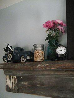 Mantle shelf - GREAT idea for a shelf!    http://westfurniturerevival.blogspot.com/2011/06/love-what-you-do-mantle.html