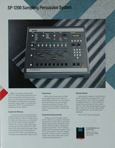 Emu SP1200 advertisement Music Production Equipment, Drum Machine, Percussion, Beats, Technology, Studio, Classic, Musica, Tech