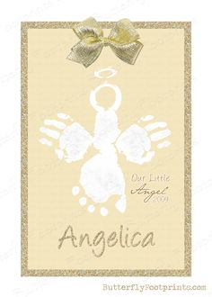 NEW Angel prints will become available for the Holiday season. For those families who were lucky enough to have their child's footprints & handprints, I can use them to create a Christmas memorial Angel keepsake for you. For those, like myself, who did not receive your baby's handprints, but do have footprints, I will be releasing a version for you as well These will become available in my Etsy Shop on Nov. 1st. I will keep you all updated. xoxo