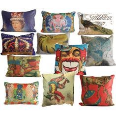 More fun pillows!  Click the image to buy your favorite pillows
