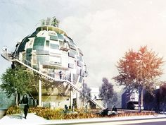 "What was once ""work"" is now ""play""... and ""art""...Spherical Home Is Built from Abandoned Oil Silos..."
