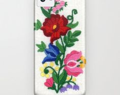 """iPhone 5, 5s, iPhone 5c, samsung galaxy S4 case, iphone4, iphone3g, """"Kalocsa Flowers Embroidery"""" Hungarian folk art spring traditional cool"""