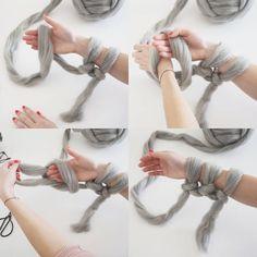 The Beginner's Guide On Arm Knitting