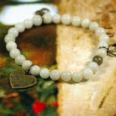 Jade 3 Charm Stretchy Mala Bracelet