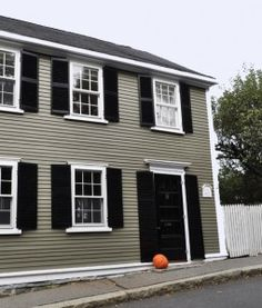 Exterior Paint Colors Grey grey house light green roof |  moss green with cream or white