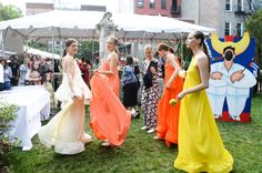 Pin for Later: Stella McCartney's Resort Collection Party Was a Summery Sweet Dream And the Collection Was Full of Beautiful Dresses These gowns were made for dancing.
