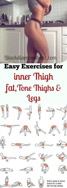 Best simple exercises to lose inner thighs fat and burn belly fat; tone thighs, legs and slimming waistline fast. It will not take more than 10 minutes for each workout every day and you are guaranteed of losing 10 pound in 7 days by Bali