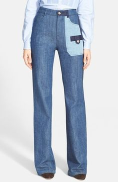 "See by Chloé Patchwork Jeans at Nordstrom.com. <b style=""COLOR:#990000"">"