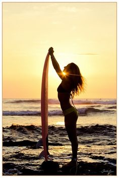 Vintage look of an endless summer. This girl has a passion for surfing.  #EndlessSummer