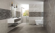 NEWAGE Collection - COLORKER #bath #tiles #whitebody #stoneeffect #decor #interiors #colorker