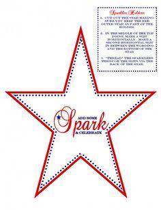 Free July 4th printable sparkler holder #freeprintables #july4th