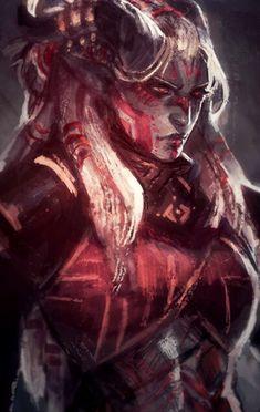 Qunari, tainted-knight