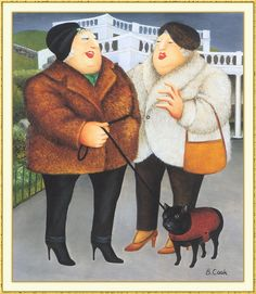 """Beryl Cook """"Beryl Cook, September 1926 – 28 May was an English artist best known for comical paintings of people. She had no fo. Beryl Cook, Plus Size Art, English Artists, British Artists, Funny Sexy, Fat Women, Art For Art Sake, Naive Art, Happy Women"""