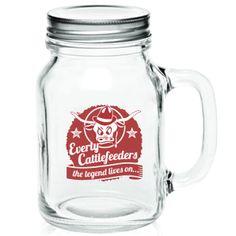"""""""the legend lives on"""" Mason Jar Mug » Cool Stuff » The Cattlefeeder Fan Shop"""