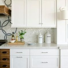 Silestone Lagoon Counters Transitional Kitchen Cove Cabinetry And
