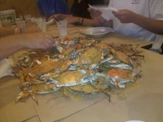 Mickey's Crabhouse in Bethany Beach, DE. Awwww Mickey's, you're so fine! Love how they jst dump the crabs on your table!