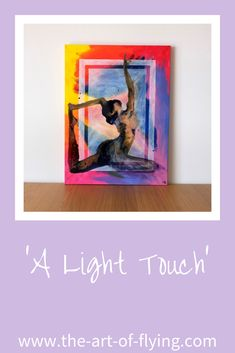 'A Light Touch' is a large rainbow multicoloured resin and acrylic figure painting of a yogi in pigeon yoga pose Chair Pose, Yoga Pictures, Light Touch, Yoga Art, Yoga For Men, Yoga Everyday, Yoga Retreat, New Artists, Figure Painting