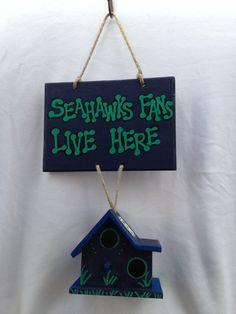 Seattle Seahawks Fan House on Etsy, $15.00