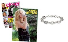 Closer Weekly - September 2014 featuring the Christina Link Bracelet-Silver by Stella & Dot on Connie Britton